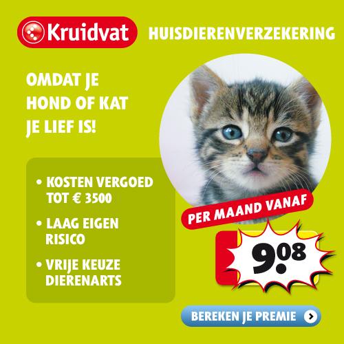 Kruitvat huisdierenverzekeringen